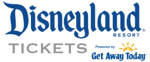Disneyland Resort Logo with text that reads Tickets powered by Get Away Today